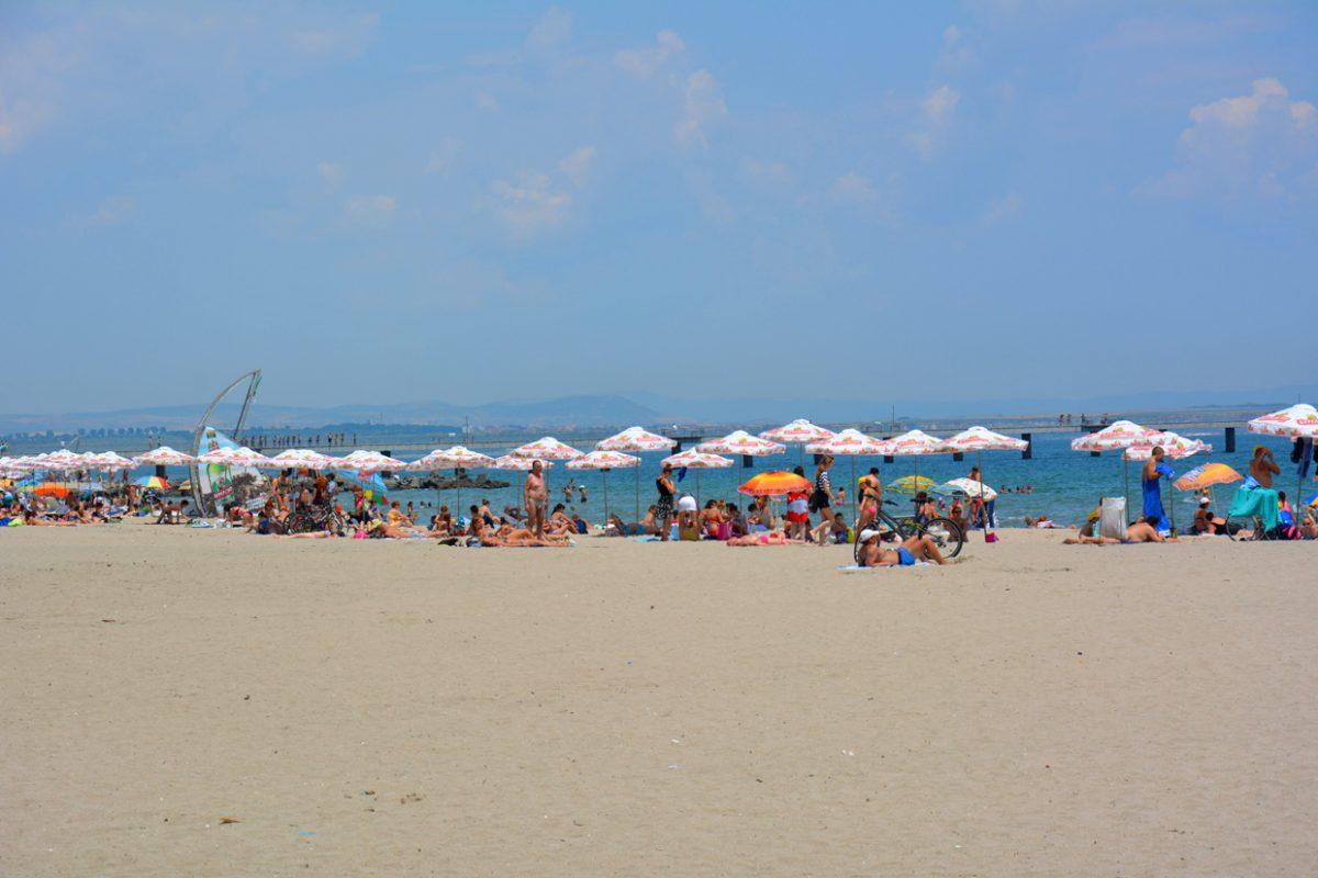 Пляж в Бургасе, Болгария