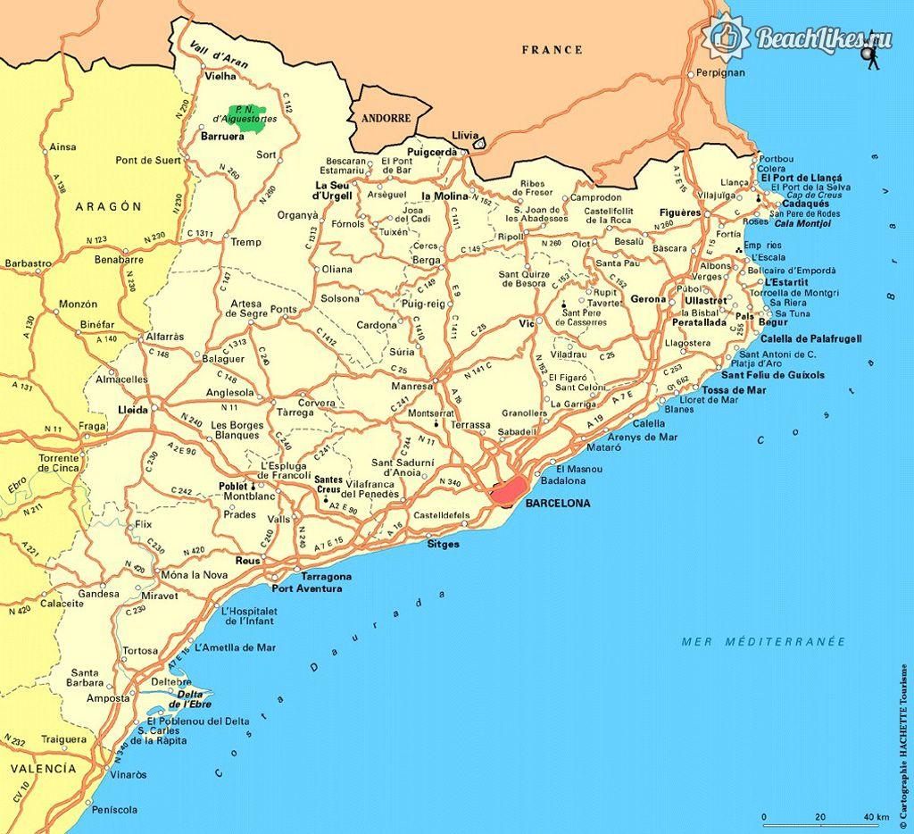 Пляжи и курорты Каталонии и Коста Бравы