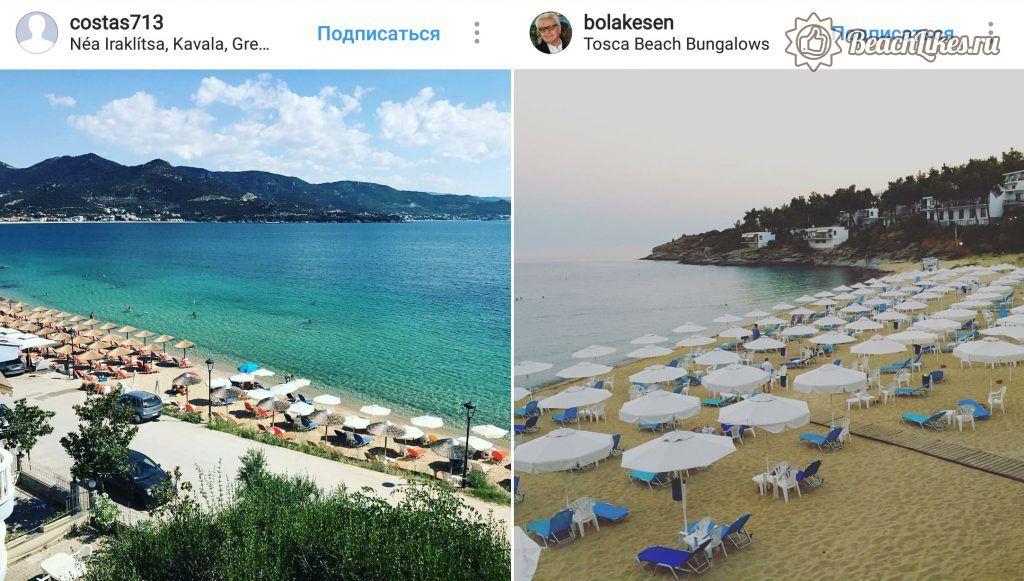 Пляж Неа Ираклица, Кавала, Греция