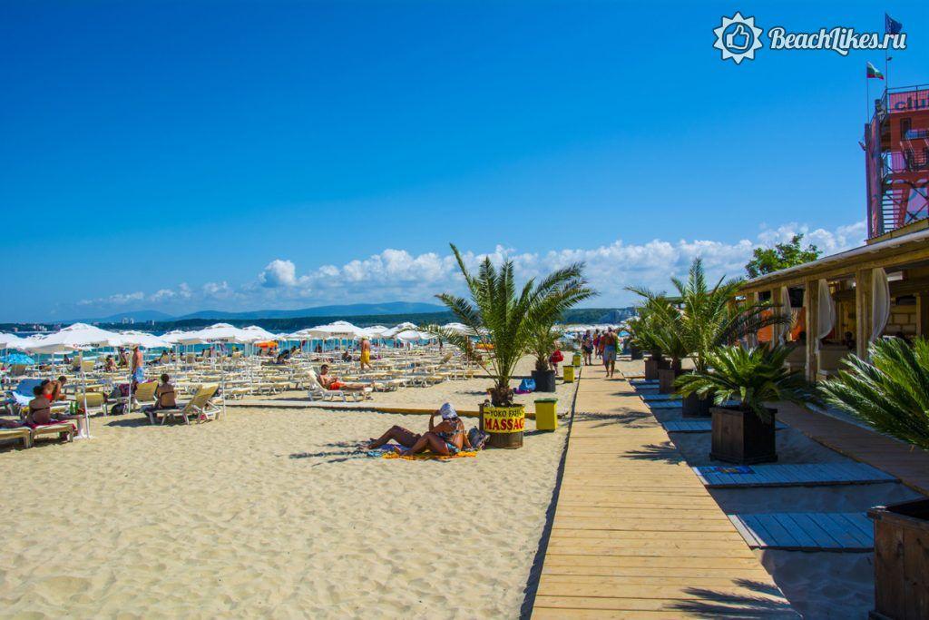 Южный пляж в Приморско, Болгария