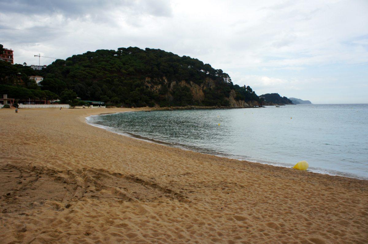 Пляж Санта Кристина в Ллорет де мар (Испания, Коста Брава)