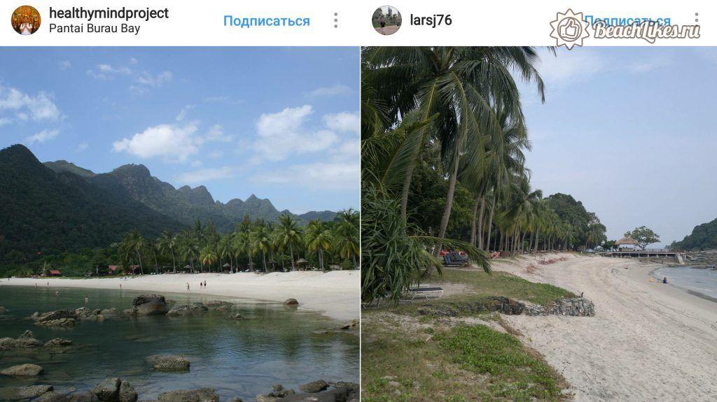 Пляж Бурау Бей на Лангкави в Малайзии