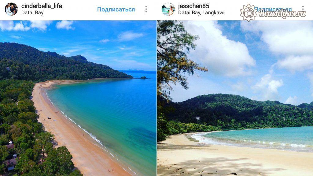 Пляж Датай Бей на Лангкави в Малайзии