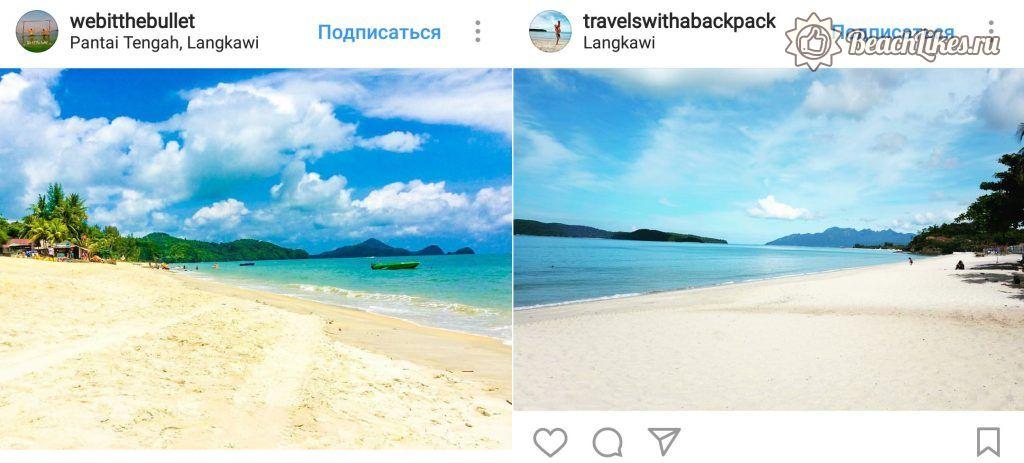 Пляж Пантай Тенгах на Лангкави в Малайзии