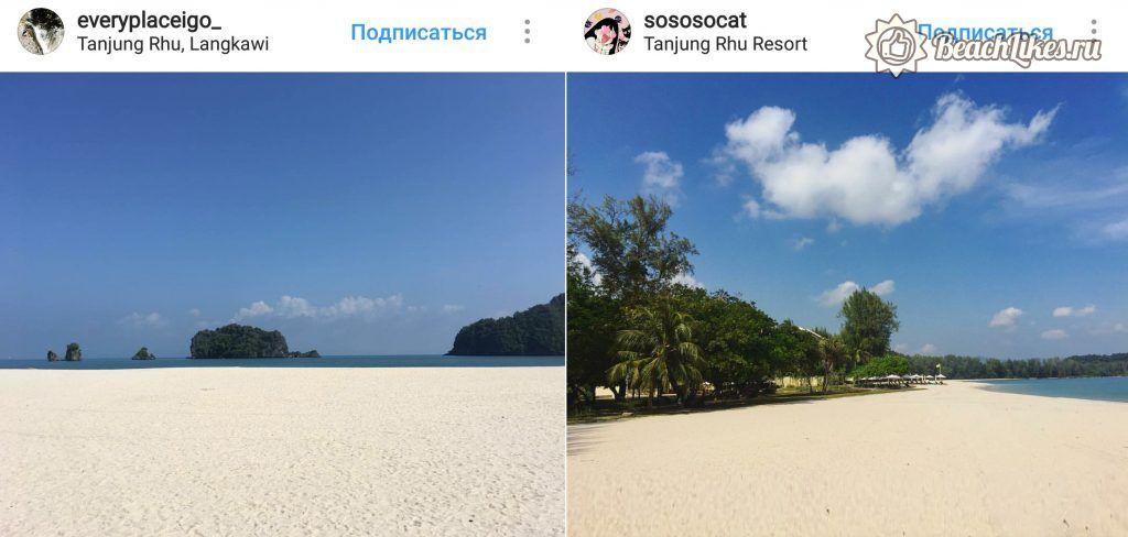 Пляж Танджунг Ру на Лангкави в Малайзии