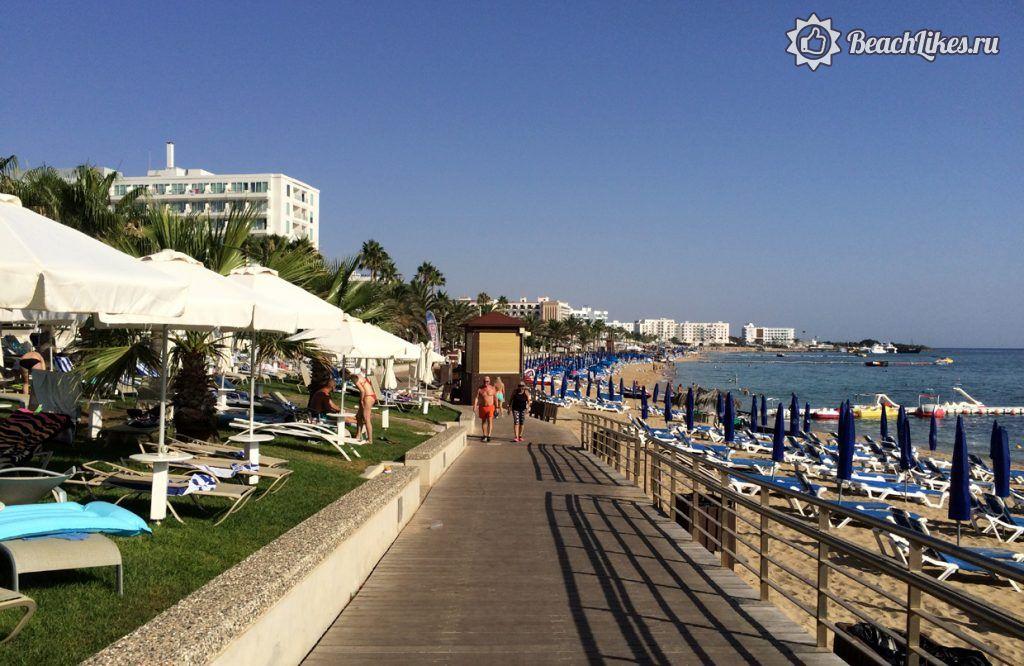 Пляж Вриси центральный пляж Протараса, Кипр