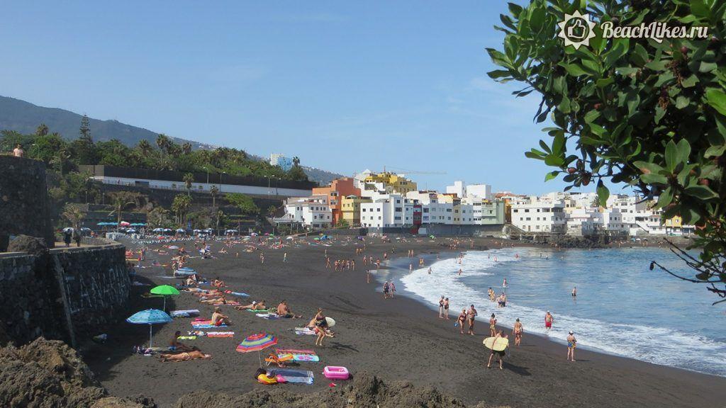 Пляж Хардин в Пуэрто-де-ла-Крус Тенерифе
