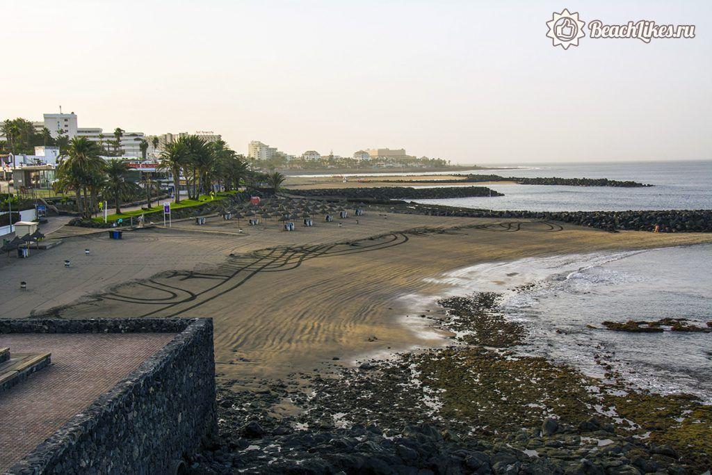 Пляж Эль-Бобо в Плайя де лас Америкас на Тенерифе