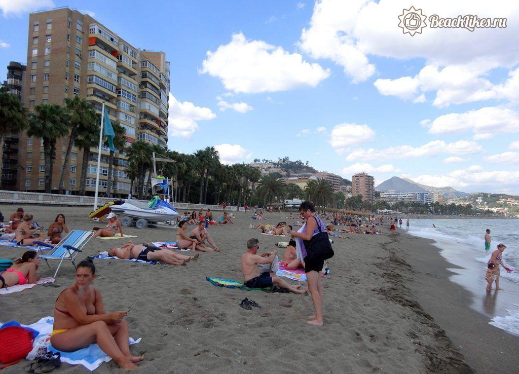 Пляж Малагета в Малаге, центральный пляж