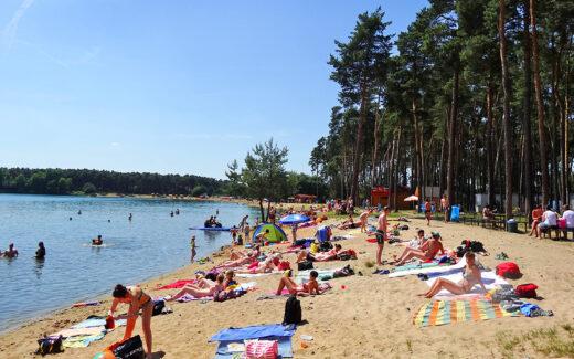 Пляж озера Лгота в Чехии